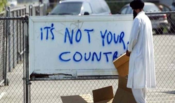 its not your country