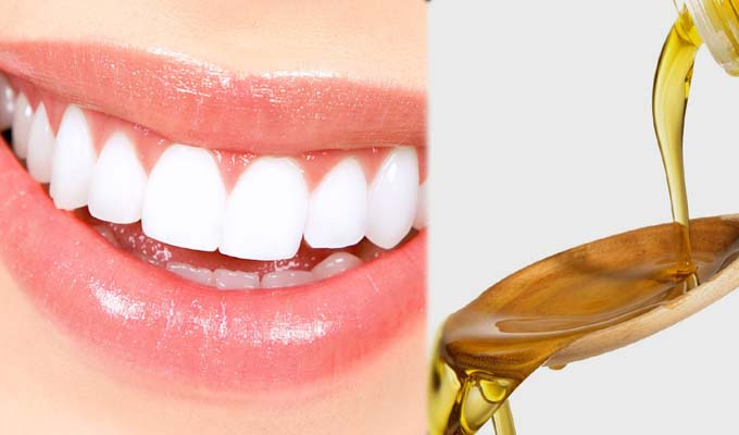 mustard oil to reduce the yellowness of your teeths