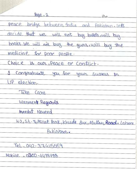 pak girl writes letter to pm narendra modi page 2